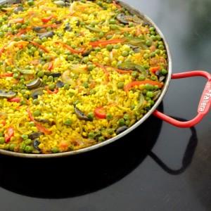 Paella de verduras - Huerto de Urbano