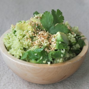 Couscous con palta y cilantro - Huerto de Urbano