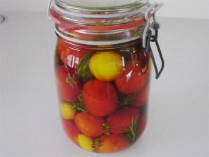 tomates encurtidos - Huerto de Urbano
